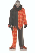 Ste Clown Diabolique Horreur Effrayant Orange Adulte Hommes Halloween Co... - $34.67