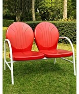 New retro old country time RED metal loveseat also available in blue whi... - $179.00