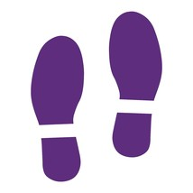 LiteMark Purple Removable Dinosaur Tracks Decal Stickers - Pack of 12 - $19.95