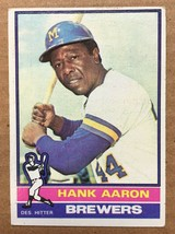 1976 Topps #550 Hank Aaron Baseball Card EX Condition Milwaukee Brewers RF1 - $9.99