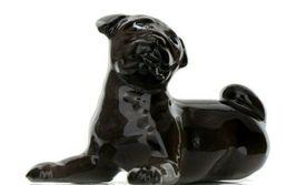 Hagen Renaker Dog Pug Baby Black Ceramic Figurine image 9