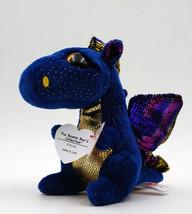 "6"" TY Beanie Boo Saffire the Dragon Soft Glitter Eyes Plush Stuffed Toy ... - $8.99"