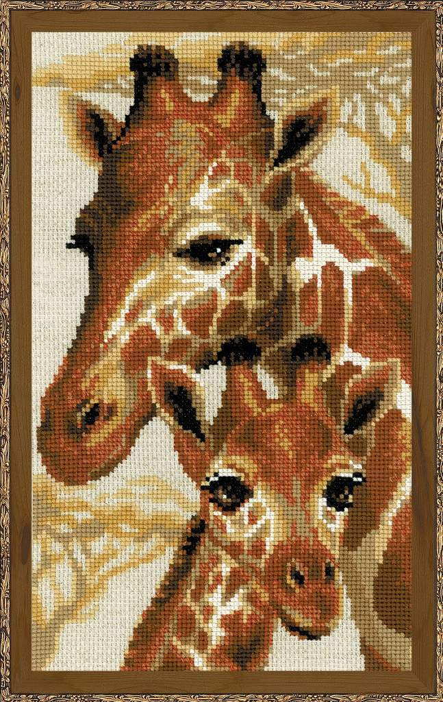 Primary image for Cross Stitch Kit Riolis Giraffes