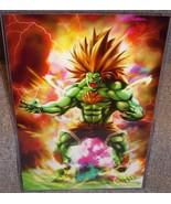 Street Fighter Blanka Glossy Art Print 11 x 17 In Hard Plastic Sleeve - $24.99