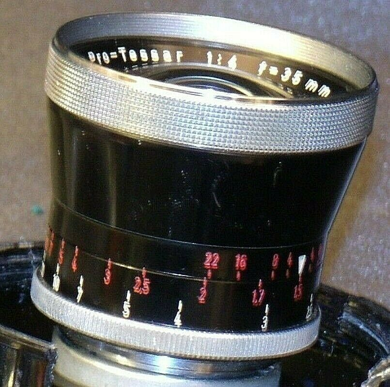 Carl Zeiss Pro-Tessar Lens f=35mm with fitted Zeiss Ikon Case AA-192034 Vintage