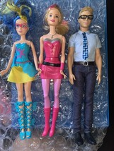 2014 Barbie in Princess Power Lot Of 3 Abby Butterfly Superhero Ken Reporter - $28.99