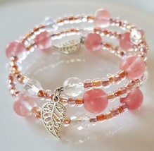 Pink Mix Beaded Wrap Bracelet - $15.00