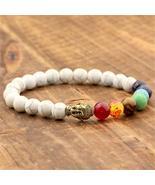 Balancing White Turquoise Stone & 7 Chakra Bracelet - $22.00