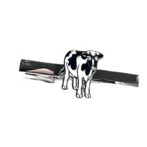 Friesian Dairy Cow Tie Clip / tie slide in gift box , tieclip, tie holder