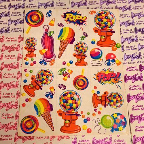80s Vintage Lisa Frank Complete Sticker Sheet  S158  Gumball Machine POP!