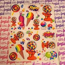 80s Vintage Lisa Frank Complete Sticker Sheet  S158  Gumball Machine POP! image 1