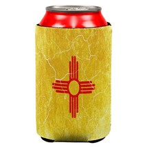 New Mexico Vintage Distressed State Flag All Over Can Cooler - $7.95