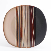 """Better Homes And Gardens """"Bazaar Brown"""" Stripes Collectible Large Dinner... - $13.99"""