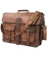 Genuine Leather messenger bag, Briefcase Business case Attaché case carr... - $77.08