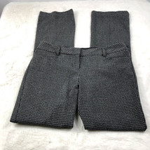 Express Women's Gray Houndstooth 'Editor' Dress Pants Work Career Size 6R - $19.24