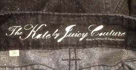 Juicy Couture Women's The Kate Heart Pocket Jeans Black Sparkle Denim Size 26 image 4