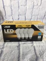 4x FEIT 100 Watt LED Bulb uses 15W • 1600 Lumens • 3000K • E26 Base • A19 Type • - $24.99