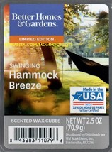 Swinging Hammock Breeze Better Homes and Gardens Scented Wax Cubes Tarts Melts - $3.50