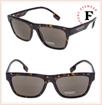 BURBERRY 4293 Vintage London Brown Havana Geometric Sunglasses BE4293S A... - $177.21