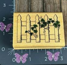 StampCraft Vine Plant Fence Rubber Stamp 440H11 #X59 - $4.46