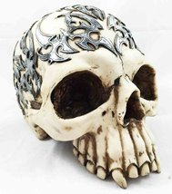 "Atlantic Celtic Tattoo Skull Statue 8"" Long Half Skullhead - $26.95"