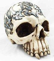 """Celtic Tattoo Skull Statue 8"""" Long Half Skullhead - $26.68"""