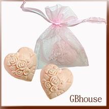 Silicone soap mold - Wedding -Mini Rose Heart-2cavities - $24.39