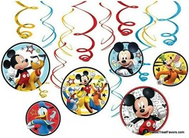 MICKEY Party FAVOR Birthday Danglers Swirl Hanging Decorations ~12PCS Do... - $6.88