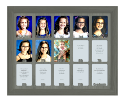"School Years Picture Frame - P 12  Personalized Preschool 2.5"" x 3.5"" Da... - £49.44 GBP"