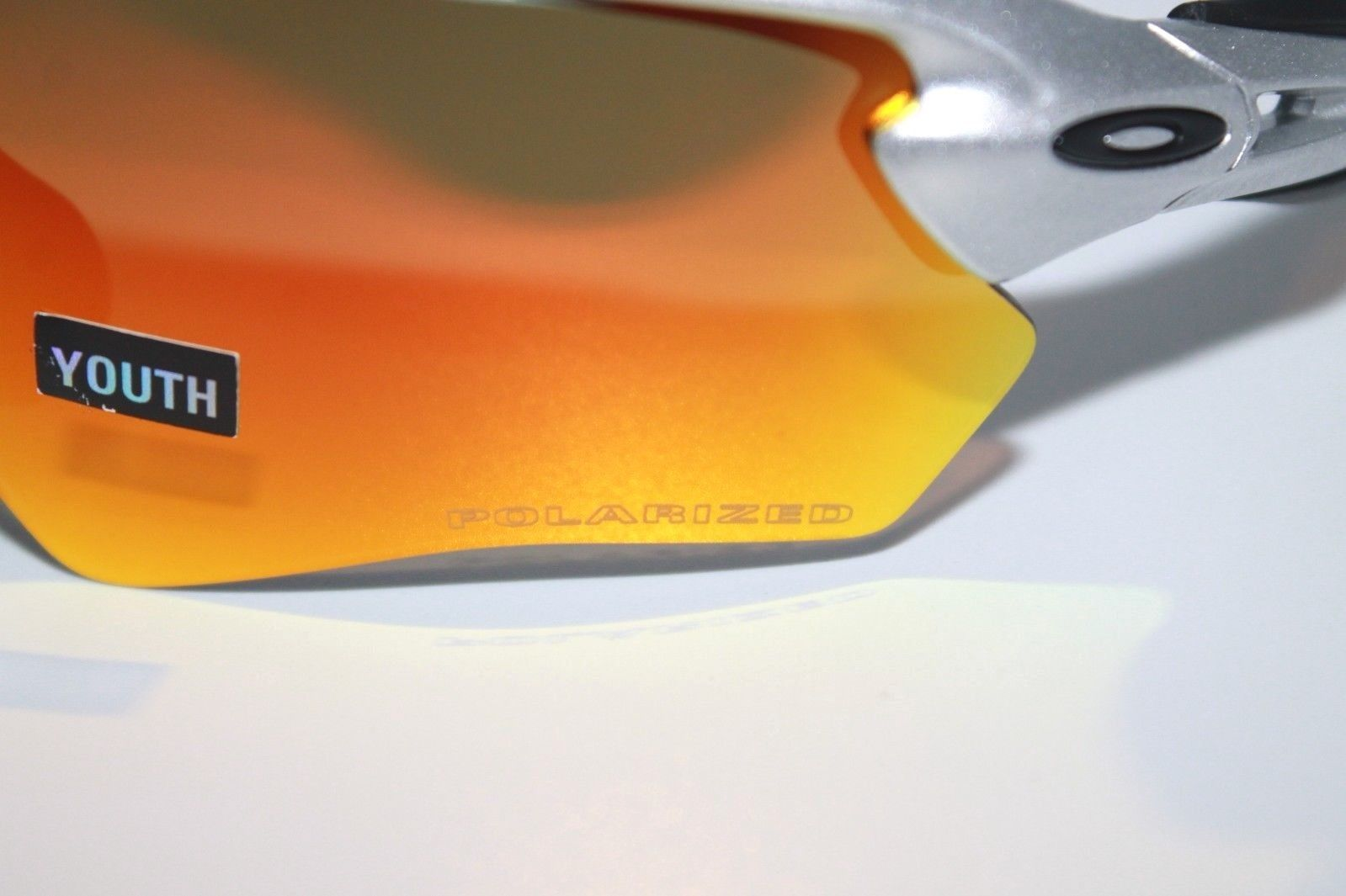 italy new oakley sunglasses radar ev xs path silver fire