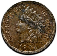 1904 Indian Head Cent Penny Coin Lot A 294 image 1
