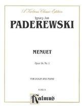 Menuet, Op. 14/1 (Kalmus Edition) Paderewski, Ignace Jan - $12.95