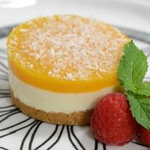 Mango and Panna Cotta Shortbread Cake - Frozen - 16 cakes (3.15 oz each) - $83.64
