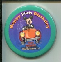 """Disney World Employee Pin-Back Button 3""""-never issued or used at park-ra... - $22.31"""
