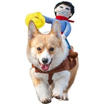 NACOCO Cowboy Rider Dog Costume for Dogs Clothes Knight Style with Doll ... - £15.79 GBP