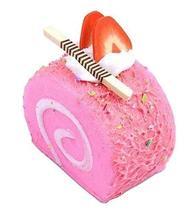 Set of 2 Artificial Cake Lifelike Egg Rolls Model Fake Cake, Pink - $11.79