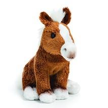 DEMDACO Flaxen Chestnut Horse Children's Plush Beanbag Stuffed Animal Toy - $16.98