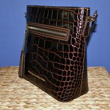 Dooney & Bourke Lani Croco Emb Leather Crossbody Brown T'Moro image 2