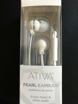 Ativa Pearl Earbuds White Built In Microphone WDRS17 Cell Phone Headset NIB - ₹708.75 INR