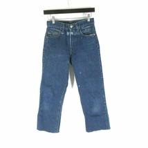 28 - Levi's Womens High Rise Mom Jeans Frayed Hem Bleach Splatter 0605CK - $16.00