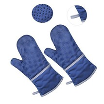 Heat Resistant Gloves   Oven Mitts - 500°F Extreme Heat Resistant Safety... - $9.74