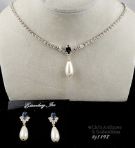 EISENBERG ICE NECKLACE AND MATCHING PIERCED EARRINGS (Inventory #J1198) - $88.00