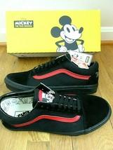 Vans X Disney Mens Old Skool Mickey Mouse Club Skate shoes Black Red Siz... - $94.04