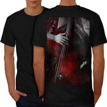 Jazz Bass Art Old Music Shirt Bass Player Men T-shirt Back - $12.99+