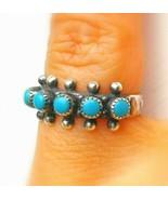 SPIRIT RING Navajo Native American Sterling Silver & Turquoise *jinn* mo... - $221.12