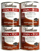 4 Varathane Stain Poly Rich Even Color Traditional Cherry Semi Gloss 32 oz  - $55.99
