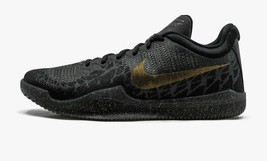 Nike Mens Mamba Rage Basketball Shoes Black Metallic Gold Anthracite Sz ... - $82.99+