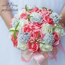 Two-Tone Rose Bridal Bouquet - $27.99+