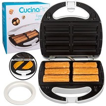 Empanada and Churro Maker Machine- Cooker w 4 Removable Plates- Easier t... - $36.12