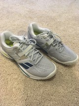 BABOLAT  Tennis Shoes Sneakers Grey/blue/green  Woman's Sz 8 - $65.44